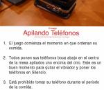 """Phone Stacking Game"" en español"
