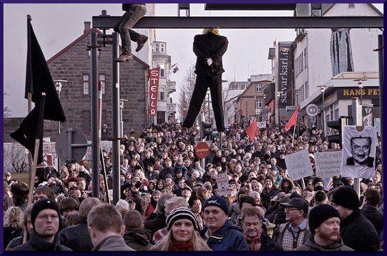 Revolución pacífica en Islandia