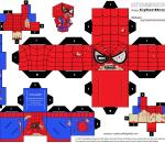 Cubeecraft Zombie Spider-Man: imprime, arma y listo