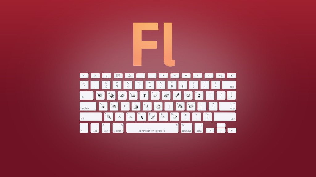 Adobe Flash CS shortcuts - Haz clic para ensanchar y guardar en alta resolución (2560x1440)