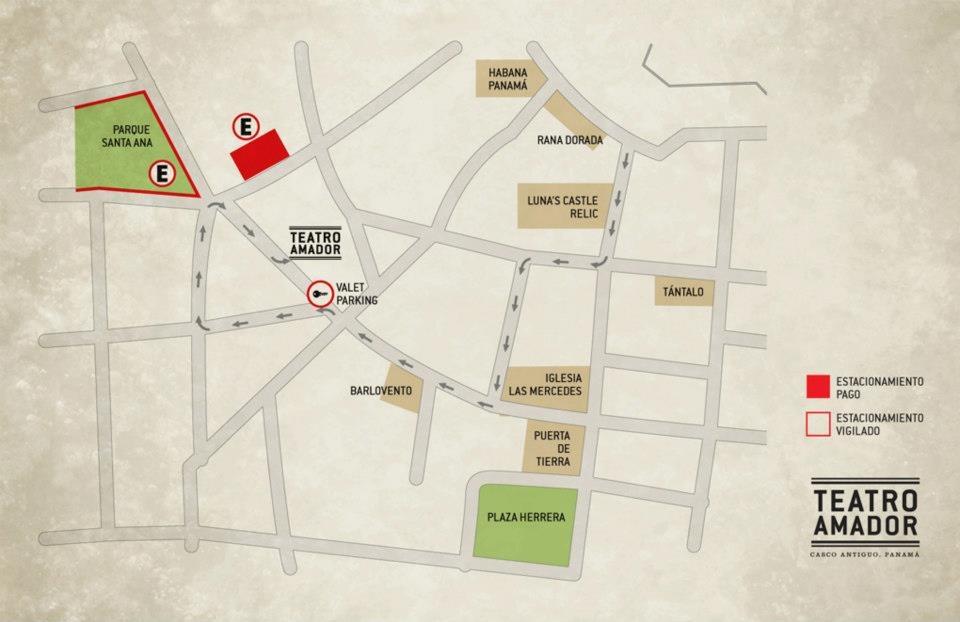 Mapa para llegar al Teatro Amador