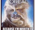 Chewbacca para LOREAL