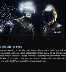 Daft Punk Random Access Memories gratis en iTunes