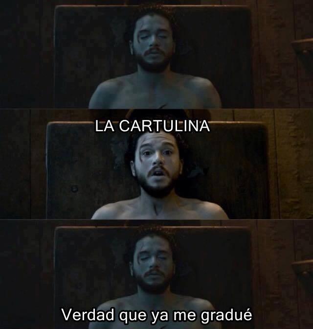 ¡La cartulina, Jon Snow!